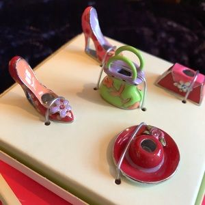 Enamel B-Day Cake Candle Holders for Girly Girl